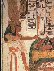 Nefertari making offerings