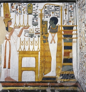 Nefertari offering to Ptah